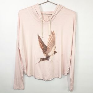 American eagle soft and sexy bird blush hoodie